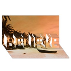 Wonderful Sunset Over The Beach, Tropcal Island Believe 3d Greeting Card (8x4) by FantasyWorld7