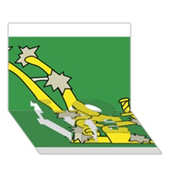 Starry Plough Flag Love Bottom 3d Greeting Card (7x5)