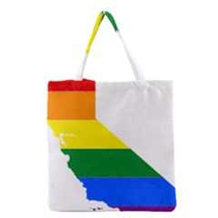 Lgbt Flag Map Of California Grocery Tote Bag