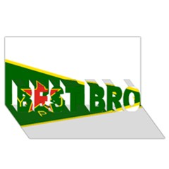 Flag Of The Women s Protection Units Best Bro 3d Greeting Card (8x4) by abbeyz71