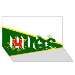 Flag Of The Women s Protection Units Hugs 3d Greeting Card (8x4) by abbeyz71