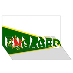 Flag Of The Women s Protection Units Engaged 3d Greeting Card (8x4) by abbeyz71