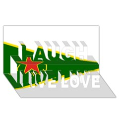 Flag Of The Women s Protection Units Laugh Live Love 3d Greeting Card (8x4) by abbeyz71