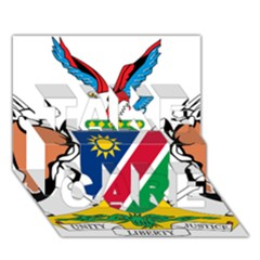 Coat Of Arms Of Namibia Take Care 3d Greeting Card (7x5)
