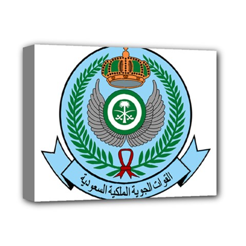 Emblem Of The Royal Saudi Air Force  Deluxe Canvas 14  X 11  by abbeyz71