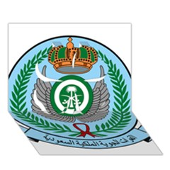 Emblem Of The Royal Saudi Air Force  Clover 3d Greeting Card (7x5) by abbeyz71