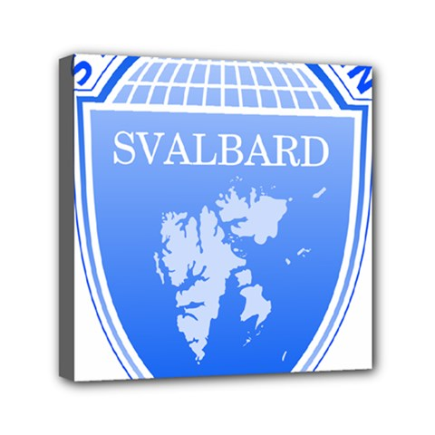 Coat Of Arms Of Svalbard Mini Canvas 6  X 6  by abbeyz71