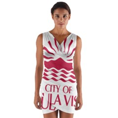 Seal Of Chula Vista Wrap Front Bodycon Dress by abbeyz71