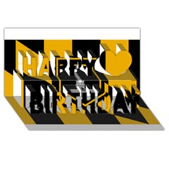 Flag Of Baltimore Happy Birthday 3d Greeting Card (8x4) by abbeyz71