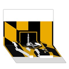 Flag Of Baltimore Love Bottom 3d Greeting Card (7x5) by abbeyz71