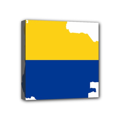 Flag Map Of Colombia Mini Canvas 4  X 4
