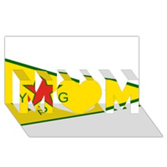 Flag Of The People s Protection Units Mom 3d Greeting Card (8x4) by abbeyz71
