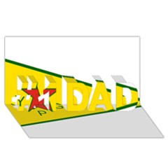 Flag Of The People s Protection Units #1 Dad 3d Greeting Card (8x4) by abbeyz71