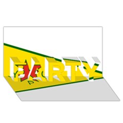 Flag Of The People s Protection Units Party 3d Greeting Card (8x4) by abbeyz71