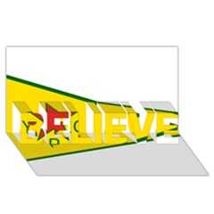 Flag Of The People s Protection Units Believe 3d Greeting Card (8x4) by abbeyz71