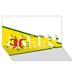 Flag Of The People s Protection Units Sorry 3d Greeting Card (8x4) by abbeyz71