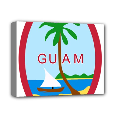 Seal Of Guam Deluxe Canvas 14  X 11  by abbeyz71