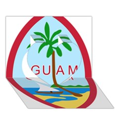 Seal Of Guam Heart 3d Greeting Card (7x5) by abbeyz71