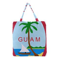 Seal Of Guam Grocery Tote Bag