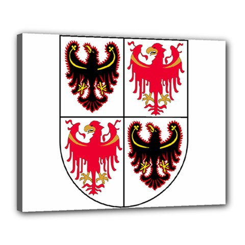 Coat Of Arms Of Trentino Alto Adige Sudtirol Region Of Italy Canvas 20  X 16  by abbeyz71