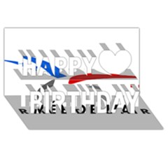Logo Of The French Air Force (armee De L air) Happy Birthday 3d Greeting Card (8x4)