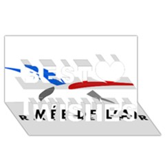 Logo Of The French Air Force (armee De L air) Best Wish 3d Greeting Card (8x4)
