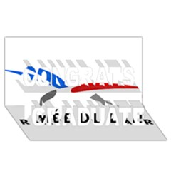 Logo Of The French Air Force (armee De L air) Congrats Graduate 3d Greeting Card (8x4)