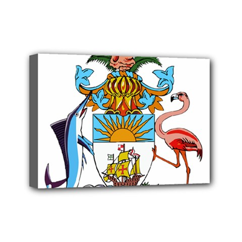 Coat Of Arms Of The Bahamas Mini Canvas 7  X 5
