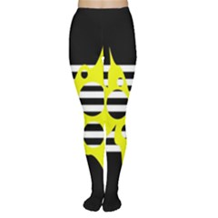 Yellow Abstraction Women s Tights by Valentinaart