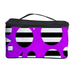 Purple Abstraction Cosmetic Storage Case by Valentinaart