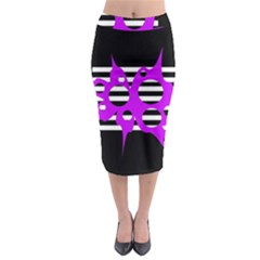 Purple Abstraction Midi Pencil Skirt by Valentinaart