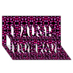 Dots Pattern Pink Laugh Live Love 3d Greeting Card (8x4) by BrightVibesDesign