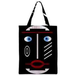 Decorative Mask Zipper Classic Tote Bag by Valentinaart