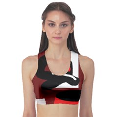 Crazy Abstraction Sports Bra by Valentinaart