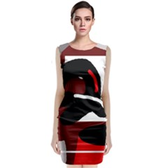 Crazy Abstraction Classic Sleeveless Midi Dress by Valentinaart