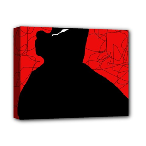 Red And Black Abstract Design Deluxe Canvas 14  X 11  by Valentinaart