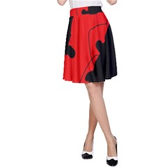Black And Red Lizard  A-line Skirt by Valentinaart