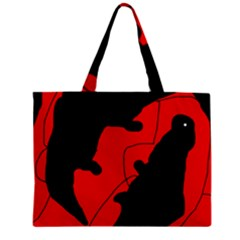 Black And Red Lizard  Zipper Mini Tote Bag by Valentinaart
