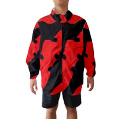 Black And Red Lizard  Wind Breaker (kids) by Valentinaart
