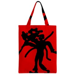Abstract Man Zipper Classic Tote Bag by Valentinaart