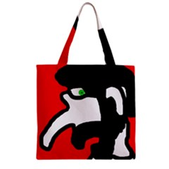 Man Zipper Grocery Tote Bag by Valentinaart