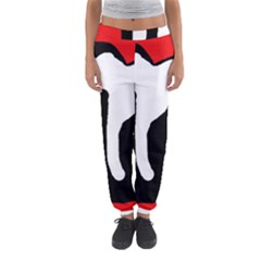Red, Black And White Women s Jogger Sweatpants by Valentinaart