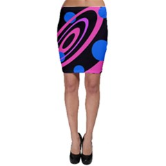 Pink And Blue Twist Bodycon Skirt by Valentinaart