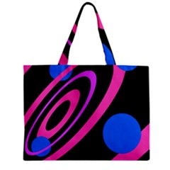 Pink And Blue Twist Zipper Mini Tote Bag by Valentinaart