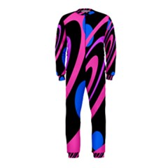 Pink And Blue Twist Onepiece Jumpsuit (kids) by Valentinaart