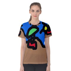 Beach Women s Cotton Tee by Valentinaart