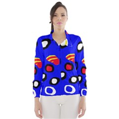 Blue Pattern Abstraction Wind Breaker (women) by Valentinaart
