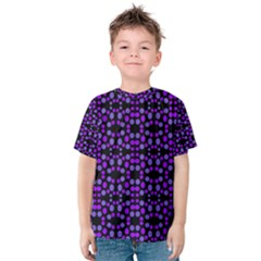 Dots Pattern Purple Kid s Cotton Tee by BrightVibesDesign