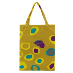 Yellow Abstraction Classic Tote Bag by Valentinaart