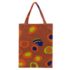 Orange Abstraction Classic Tote Bag by Valentinaart